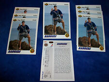 Lot of 8 - 1991-92 Upper Deck #444 Doug Weight SR RC : New York Rangers