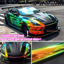 Bubble Free Rainbow Magic Mirror Chameleon Chrome Car Vinyl Wrap Film Sticker US