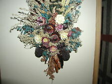 Vintage hanging Dried Floral Arrangement - Very pretty and delicate