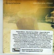 (CV854) Patrick Watson, Step Out For A While - 2012 DJ CD