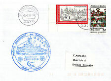 3 AGOSTO 1987 tedesco SCIALUPPA eiswette inseriti nella cache coperchio e 3 foto formato A4 1