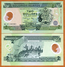 Solomon Islands, $2 (2001),  Pick 23, POLYMER, UNC > Commemorative