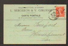 """SAINT-ETIENNE (42) USINE d'ARMES """"L. BERGERON & V. GIRODET"""" en 1908"""