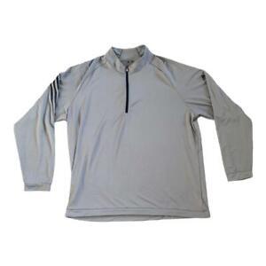 Adidas Golf Grey Long Sleeve 1/4 Zip 2XL
