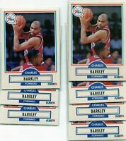 (7) 1990 Fleer Basketball Lot CHARLES BARKLEY - Philadelphia 76ers