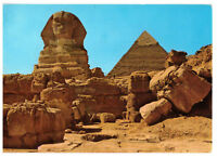 Giza: The Great Sphinx and Khefreh Pyramid Egypt Rare Picture Postcard