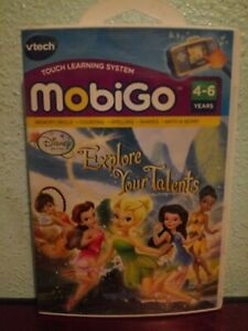 VTech MobiGo Disney Fairies Explore Your Talents Touch Learning System Game NEW