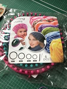 Knitting Looms Yarn Long Ring Knitter Set Of 4 Craft Set Sock Scarf Hat Sweaters
