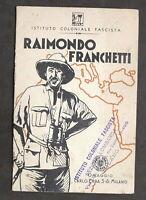 Colonialismo Biografia - Raimondo Franchetti - Omaggio Carlo Erba - 1936