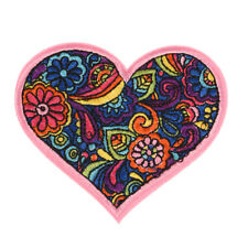 Colorful Flower Heart Embroidered Sew On Iron On Patch Badge Bag Fabric-Applique