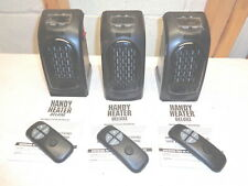Lot of 3 HANDY HEATER~Portable Plug In Ceramic Heater & Remotes~New!