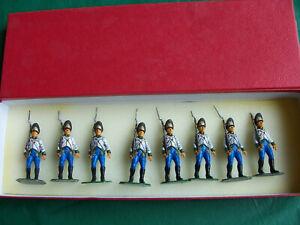 8x 54mm 1/32 metal Napoleonic Austrian Grenadiers Gynlay Regiment