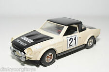 BBURAGO BURAGO 137 FIAT 124 ABARTH RALLY CREAM EXCELLENT CONDITION REPAINT
