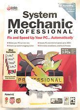 SYSTEM MECHANIC PROFESSIONAL PRO 8, PC Software (3 PC) Includes 4 bonus products