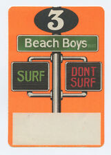 Beach Boys Surf Don't Surf 1991 Backstage pass