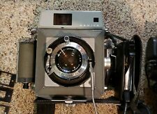 Mamiya press camera outfit with sunpak flash with Mamiya sekor 90mm F3.5