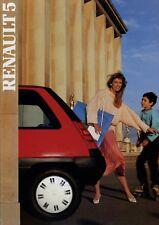 Renault 5 Prospekt 1987 brochure brosjyre catalog Katalog Werbung prospectus Pkw