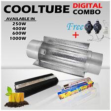 "6""(150mm) Cool Tube Reflector 400w Digital Ballast Hydroponics HPS Lamp Flower"