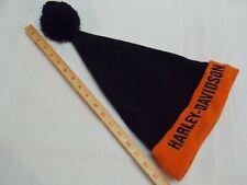 Harley Davidson stocking ski cap beanie toboggan hat with Pom pom. Vintage?
