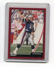 TOM BRADY NEW ENGLAND PATRIOTS 2007 TOPPS TOTAL FOOTBALL CARD #229 RED