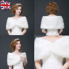 Bridal Wedding Faux Fur Stole Shawl Wrap Shrug Shoulder Scarf Women's Party Cape