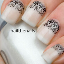 Nails Nail Art Water Transfers Decals Wraps Black Lace Nail Art So Gorgeous YD10