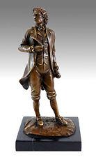 Bronzefigur - Komponist Frédéric Chopin - signiert Milo