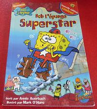 Soft Cover French Book Bob L'éponge Superstar ! Édition Couleur !