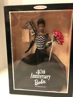 MATTEL 40th Anniversary African American Barbie Doll Collector Edition NRFB 1999
