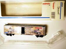 tin US Box freight car Güterwagen Blech, Märklin Marklin #45641 1:87 H0 boxed!