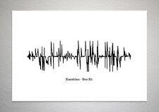 Kasabian - Eez-Eh - Sound Wave Print Poster Art