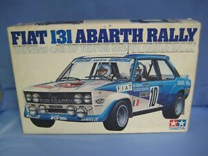 Tamiya Fiat 131 Abarth Rally, Motorized 1/20 Scale Model Kit, Made in Japan