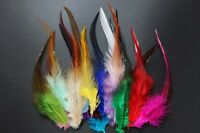 60 pcs/lot 15 Assorted Colors Cock Saddle Hackles Fly Tying Feathers Materials