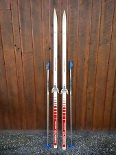 """Ready to Use Cross Country 75"""" GERMINA 195 cm Skis WAXLESS Base +  Poles"""