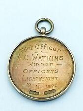 More details for 1925 raf royal air force hallmarked silver medal - pilot officer a c watkins