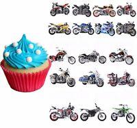 Motorrad Harley Eßbar Tortenaufleger NEU Party Deko Muffin Shopper Bild Zubehör