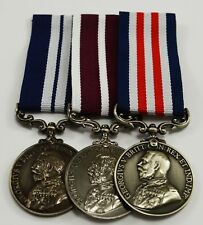 Superb Set of 3 Full Size Replica World War 1 Service & Bravery Medals. George V