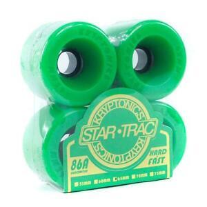 75mm STAR-TRAC KRYPTONICS Skateboard Wheels - Green 75mm Kryps / Kryptonic