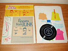 VINTAGE 1975 GRADED PRESS PUPPETS FROM JUNK, PUPPET MAKING FROM ODDS AND ENDS