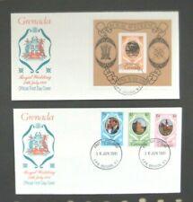 Grenada-1981-2 x Charles/Diana Wedding FDC's