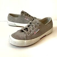 Superga Womens Shoes Size US 6.5 Gray Suede