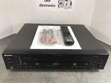 Sony RCD-W1 Dual Disc Drive CD Player Recorder Burner W/Remote, Manual - Mint!