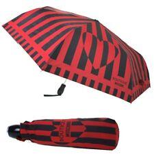 Ombrello Moschino Nero con righe rosse Umbrella