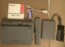 Toshiba Libretto 100CT Win98 Mini Laptop Vintage TESTED and WORKS w/accessories