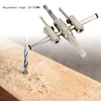 outils DIY Set 30-120mm métal réglable trou de coupeur bois scie Holesaw foret
