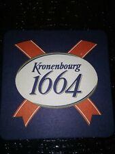 Kronenbourg 1664 Red White Blue Beer Mat Bar Coaster