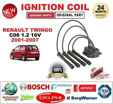 FOR RENAULT TWINGO C06 1.2 16V 2001-2007 IGNITION COIL with LEADS SET COMPLETE