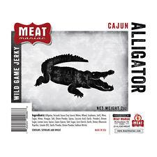 Meat Maniac CAJUN ALLIGATOR JERKY (2oz) Exotic Jerky Wild Game Meat Beef Jerky