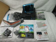 Fujifilm Finepix XP140 16.4MP Water Proof Camera with 64GB SD Card Case blue new