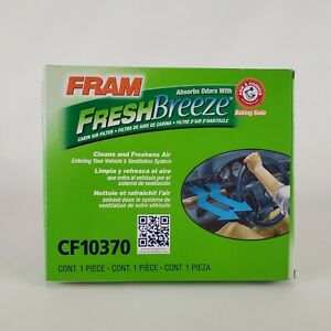 Fram Fresh Breeze Cabin Air Filter with Arm & Hammer CF10370 for Ford Mustang